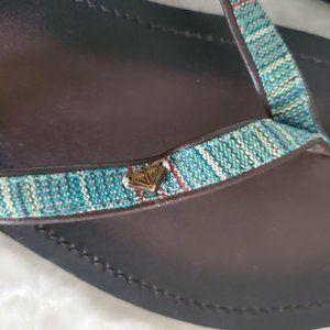 Roxy Shoes - ROXY womens brown leather flip flops